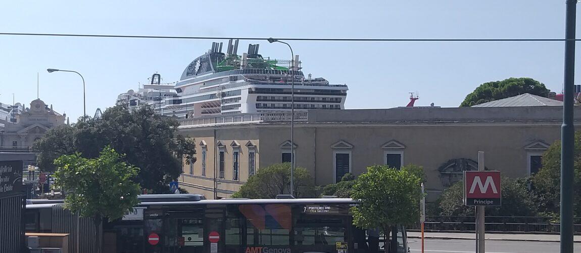 Msc Grandiosa ponte dei 1000 Genova